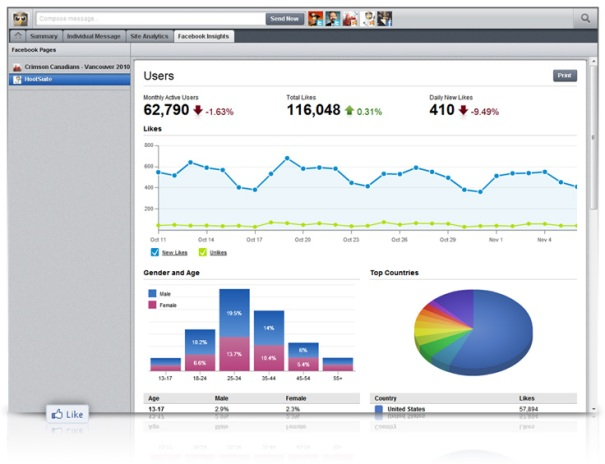 Estadísticas de Facebook Insights