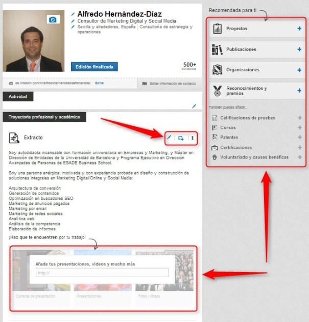 Linkedin Editar Perfil