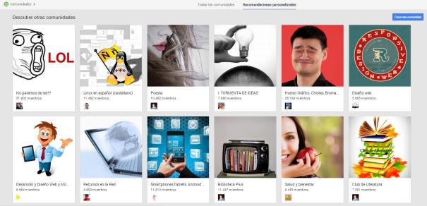 Crear Comunidades Google Plus