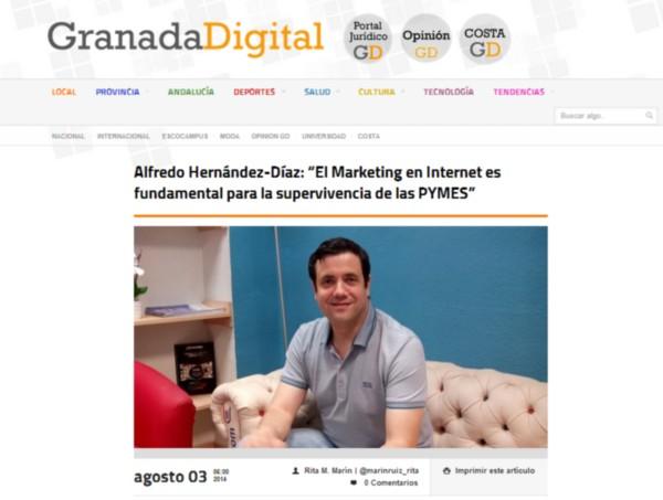 Entrevista Granada Digital a Alfredo Hernández-Díaz