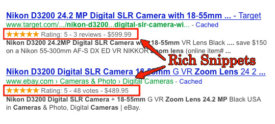 Ejemplos de Rich Snippets