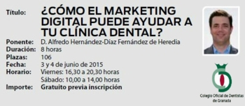 Conferencia Marketing Digital Colegio Dentistas de Granada