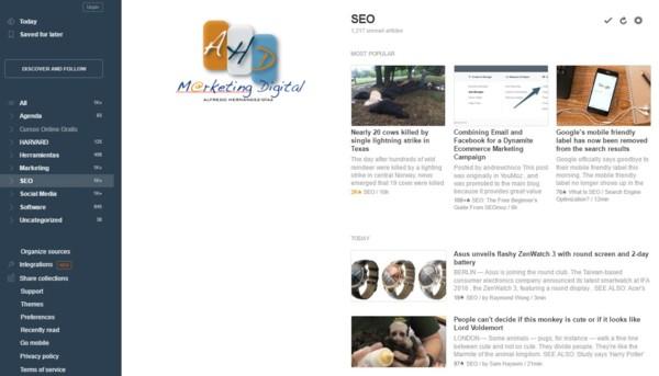 Feedly en español: ¿Qué es y cómo usar?   Consultor de Marketing ...