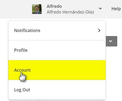 Acceso a la cuenta de Mailchimp
