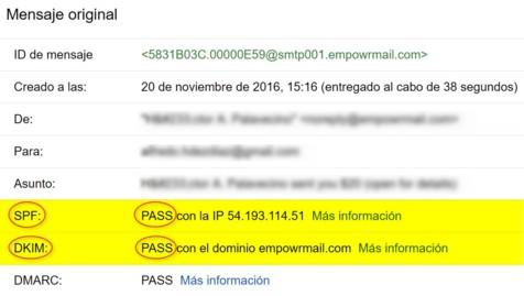 Aprobado Pass SPF DKIM