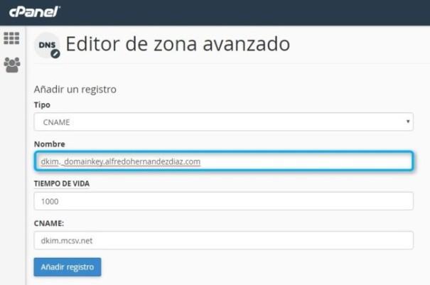 Autentificación Dominio DKIM