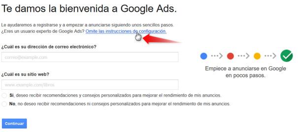 Registrar Cuenta de Google Ads