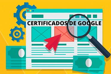 Certificados de Google Ads y Google Analytics